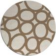 rug #907397 | round mid-brown retro rug