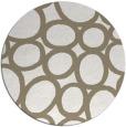 rug #907401 | round mid-brown circles rug