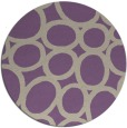 rug #907429 | round purple abstract rug
