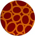 rug #907445 | round red-orange abstract rug