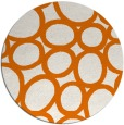 rug #907449 | round orange abstract rug