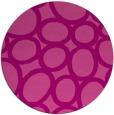 rug #907461 | round pink retro rug