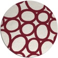 rug #907465 | round pink retro rug