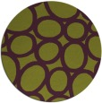 rug #907481 | round green abstract rug