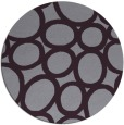 rug #907489   round purple abstract rug