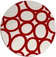 rug #907493 | round red abstract rug