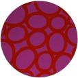 rug #907505 | round pink retro rug