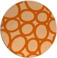 rug #907513   round red-orange circles rug