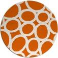 rug #907521 | round red-orange retro rug
