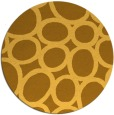 rug #907565 | round yellow abstract rug