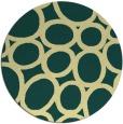 rug #907569 | round yellow abstract rug
