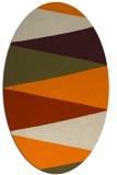 rug #908325   oval orange popular rug