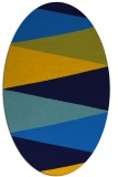 rug #908357 | oval blue graphic rug