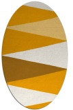 rug #908669   oval light-orange graphic rug
