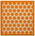 rug #909765   square orange borders rug