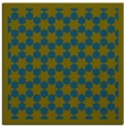 rug #909845 | square green rug