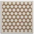 rug #909917 | square mid-brown borders rug
