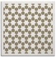 rug #909921 | square mid-brown borders rug