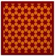 rug #909965   square red-orange borders rug
