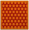 rug #910017 | square orange geometry rug