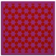 rug #910025 | square red geometry rug
