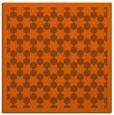 rug #910037 | square red-orange borders rug