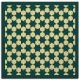 rug #910089 | square yellow borders rug