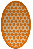 rug #910125 | oval orange borders rug