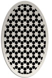 rug #910129 | oval white borders rug