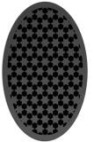 rug #910133 | oval black borders rug