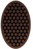 rug #910141 | oval black rug