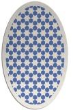 rug #910173 | oval blue borders rug