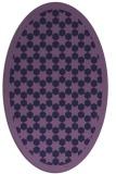 rug #910225 | oval purple borders rug