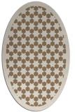rug #910277 | oval mid-brown borders rug