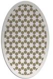rug #910281 | oval white borders rug