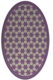 rug #910309 | oval purple borders rug