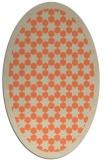 rug #910333   oval orange popular rug
