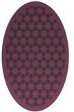 rug #910357 | oval purple borders rug