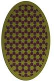rug #910361 | oval purple borders rug