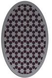 rug #910369 | oval purple borders rug