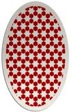 rug #910373 | oval red borders rug