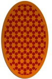 rug #910377 | oval orange borders rug