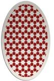 rug #910381 | oval red borders rug