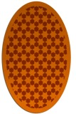 rug #910389 | oval red-orange geometry rug
