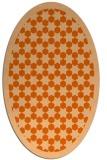 rug #910393 | oval red-orange rug