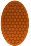 rug #910397   oval red-orange borders rug