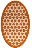 rug #910401   oval red-orange borders rug