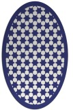 rug #910413 | oval white borders rug