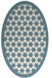 rug #910421   oval white borders rug