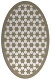 rug #910425 | oval beige geometry rug